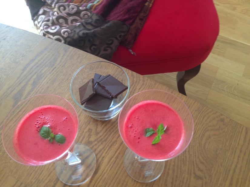 Söt, frisk och potenshöjande med vattenmelon ochmynta