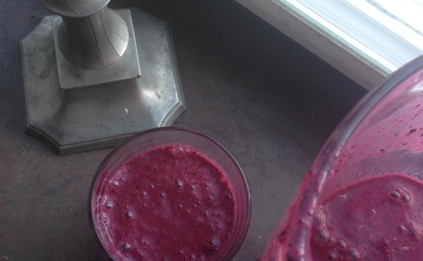 Återhämtningssmoothie med blåbär ochchiafrön
