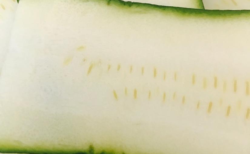 Nyttan med zucchini – panerad zucchini till halloumi ochmandelpotatis